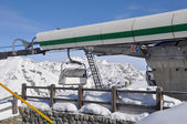 Mountain station of chairlift — Stock Photo