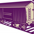 Boxcar of a cargo train — Foto Stock