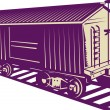 Boxcar of a cargo train — Foto de Stock