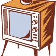 Stock Photo: Retro styled television set