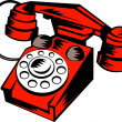 Retro vintage  telephone — Stock Photo