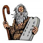 Moses Ten Commandments Tablet — Stock Photo