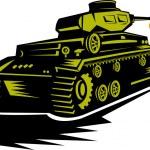 ������, ������: World war two battle tank firing cannon