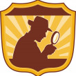 Detective inspector magnifying glass - Foto Stock