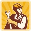 Construction worker engineer mechanic — Stock Photo