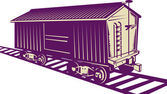 Boxcar of a cargo train — Stock Photo