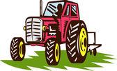 ретро винтаж трактора — Стоковое фото