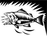 Peixe grande come o peixe pequeno — Fotografia Stock
