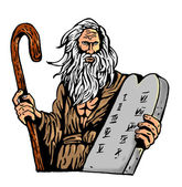 Moses Ten Commandments Tablet — Stock Photo
