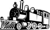 Locomotora de tren de vapor vintage — Foto de Stock
