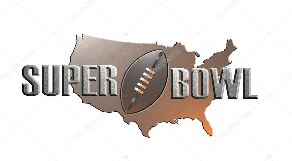 Illustration of american rugby football superbowl with map — Stock Photo #2063853