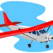 Propeller airplane cessna — Stock Photo