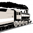 Steam train locomotive — Stock Photo