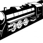 Steam train locomotive — Stock Photo