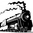 Stock Photo: Steam train locomotive