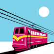 Electric train traveling — Stock Photo