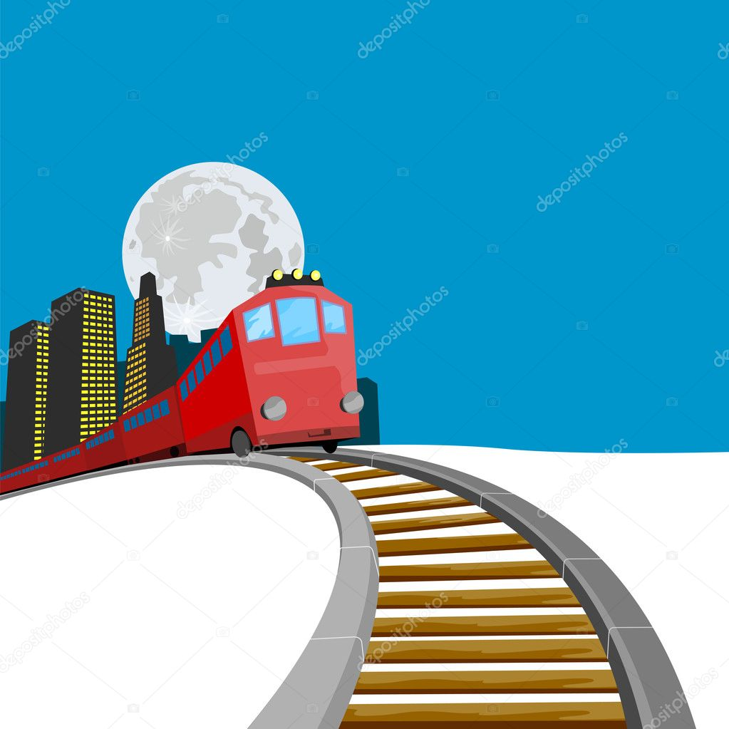 Illustration on rail travel and transport — Stock Photo #2127698