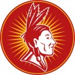 Native American indian chief — 图库照片