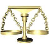 3d gör en balans — Stockfoto