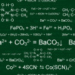 Seamless chemical pattern - Imagens vectoriais em stock