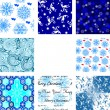 Stock Vector: Seamless winter patterns
