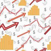 Business seamless diagram — Stock Vector