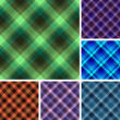 Royalty-Free Stock Imagem Vetorial: Seamless plaid patterns