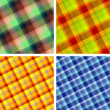 Seamless plaid patterns - Stock Vector