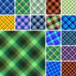 图库矢量图片: Seamless plaid pattern