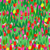Seamless tulip pattern — Stock Vector