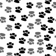 Seamless footprint pattern — Stock Vector