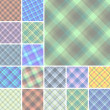 Royalty-Free Stock Vektorov obrzek: Seamless plaid patterns