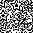 Seamless star pattern - Stock Vector