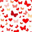 Cтоковый вектор: Seamless butterfly pattern