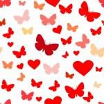 Dikişsiz kelebek deseni — Stok Vektör