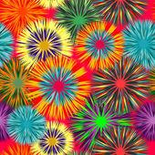 Seamless art flower pattern — Stock Vector