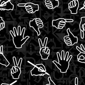 Seamless hand sign pattern — Stock Vector