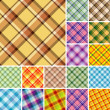 Seamless plaid pattern — Vector de stock