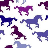 Seamless horse pattern — Stock Vector