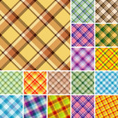 Seamless plaid pattern — Stock Vector
