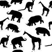 Seamless animal pattern — Stock Vector