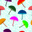 Stock Vector: Seamless umbrella pattern
