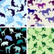 Royalty-Free Stock Vector Image: Seamless animal pattern