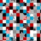 Seamless star tile pattern — Stock Vector