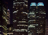 Skyscrapers at night time — Stock Photo