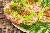 Homemade blt sandwiches - appetizers — Stock Photo