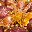 Christmas background - baubles - Stock Photo