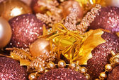 Christmas background - baubles — Stock Photo
