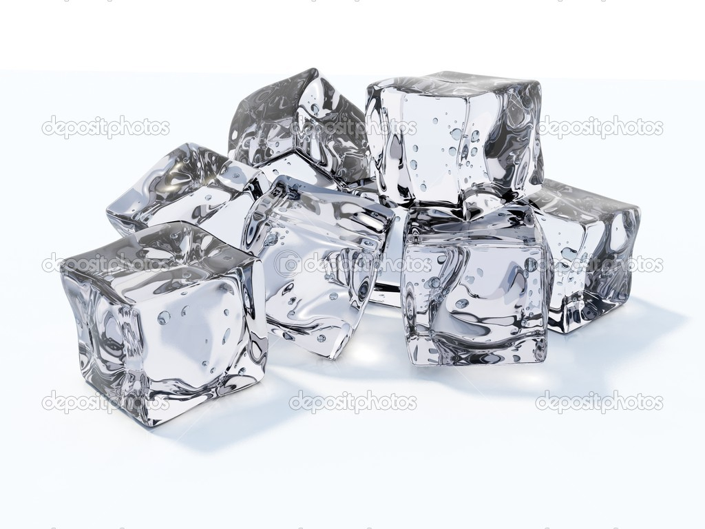 Ice cubes isolated on white — Stock fotografie #1993730