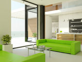 легкий дизайн интерьера — Стоковое фото
